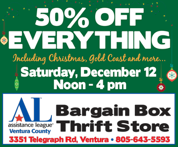50% off Everything at Assistance League Bargain Box, Dec. 12 from noon to 4 pm